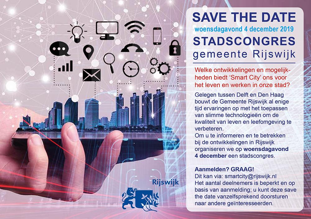 Save the date: Smart City stadscongres 4 december